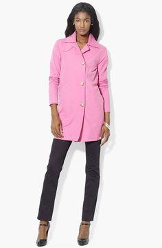 Lauren Ralph Lauren Button Front Jacket (Petite) (Online Exclusive) available at Nordstrom