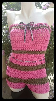 Combishort T38 Crochet Top, Tops, Women, Fashion, Shoe, Tricot, Accessories, Bebe, Moda