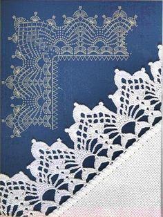 orillas tejidas a crochet paso a paso Crochet Squares, Crochet Borders, Crochet Flower Patterns, Crochet Stitches Patterns, Crochet Flowers, Stitch Patterns, Filet Crochet, Crochet Diy, Quick Crochet