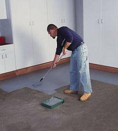 Pintar piso de concreto