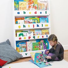 BuyTidy Books ABC Bookcase, White Online at johnlewis.com