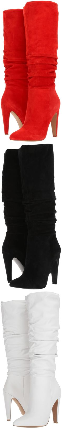 Red, Black, or White? Put your sharpest fashion foot forward this fall in the Steve Madden's Carrie knee boots