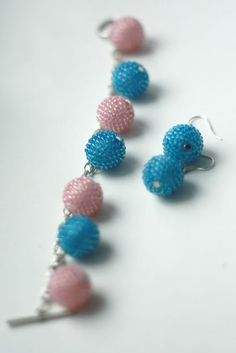 beadead bead bracelet and earring  #beadwork #jewelry