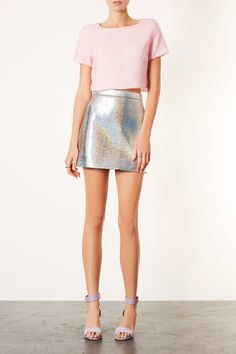 Naturally, Topshop combined the two to create a killer Holographic A-line skirt. It was adopted as the ultimate party wear must have!