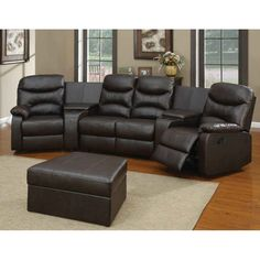 Meridian Furniture Gramercy Leather Reclining Sectional - MERI206 | Products Reclining sectional and Leather  sc 1 st  Pinterest : black leather reclining sectional - Sectionals, Sofas & Couches