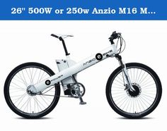 "26"" 500W or 250w Anzio M16 Mountain E-bike (Matte White, 250W). Feeling rebellious? Add some excitement to your commute! Get to work without breaking a sweat, then put on the gym clothes on your commute home. Our all-purpose mountain e-bike design gives you flexibility to work and play when you want. Available in 3 matte colors, along with your choice of a 250 or 500 Watt motor. Excellent customer care, along with swift response times come as standard."