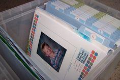 Schoolwork file box
