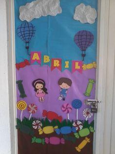 Mes de Abril. Día del Niño. Children's Day. Classroom Doors. ESCUELA. Classroom. Door. April.