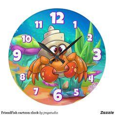 FriendFish cartoon clock