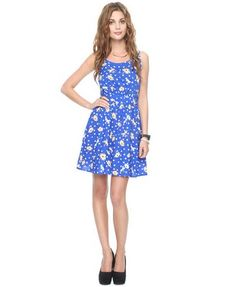 Ditsy Dots & Flowers Dress | FOREVER21 $19.80