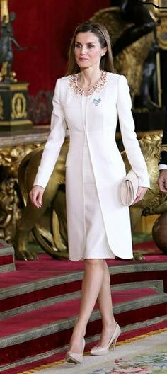 HM Queen Letizia of Spain in Felipe Varela | the Proclamation Ceremony of King Felipe VI of Spain at Zarzeula Palace - June 19, 2014