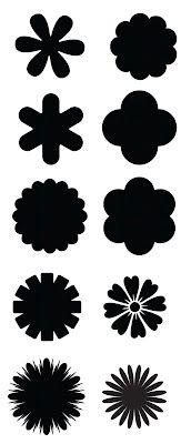 free KLDezign les SVG: Et pour finir, encore des fleurs Felt Flowers, Diy Flowers, Fabric Flowers, Paper Flowers, Silhouette Images, Silhouette Portrait, Silhouette Design, Flower Svg, Flower Template