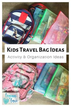 Kids Travel Bag Ideas - Organized Fun on the Road! - Laguna Lane - Keep your kids occupied and having fun while you travel! Get organization and activity ideas with these kid travel bag ideas, and make travel easy! Source by LagunaLane Road Trip With Kids, Travel With Kids, Family Travel, Family Vacations, Kids Travel Activities, Road Trip Activities, Airplane Activities, Activity Bags, Activity Ideas