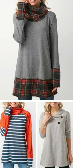 Fall winter top for women at Rosewe.com.  UPCYCLE IDEAS