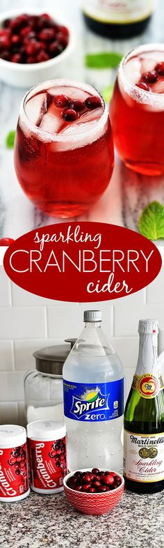 All Food and Drink: Sparkling Cranberry Cider - Life In The Lofthouse christmas baking ideas easy Christmas Party Food, Christmas Drinks, Holiday Drinks, Christmas Cooking, Party Drinks, Holiday Treats, Christmas Treats, Holiday Recipes, Cocktails