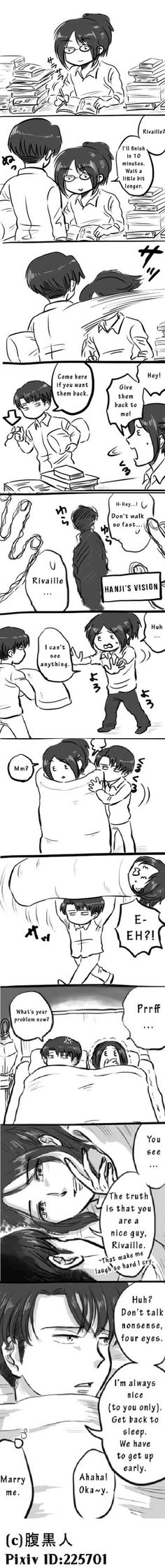 Actually Levi is nice to everyone, he just doesn't show it out.