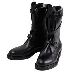"Dehner ""Strap Tank Boot""【Black/calfskin】#Dehner Boots"