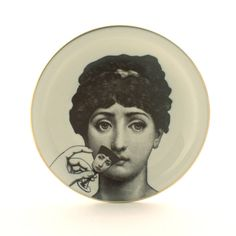 Porcelain Plate Altered Face Lina Cavalieri by MoreThanPorcelain