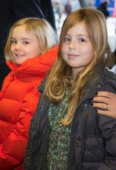 Dutch Princess Ariane and Princess Alexia arrive for the Jumping Amsterdam event in the RAI, 01.02.2015.