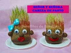 SEÑOR Y SEÑORA CABEZA DE PASTO - YouTube Diy For Kids, Crafts For Kids, English Projects, Easter 2020, Frozen Party, Toddler Meals, Childcare, Activities For Kids, Grass