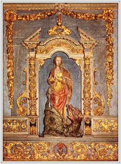 Lampaul-Guimmiliau - Recinto parrocchiale - Altare di Santa Margherita - XVI SECOLO, Bretagna, 1992