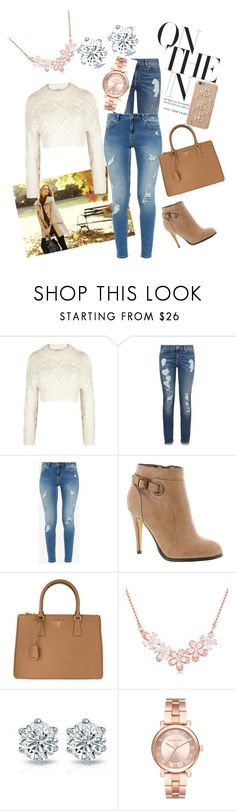 """#autumn"" by sadeta-v ❤ liked on Polyvore featuring Ann Taylor, DKNY, Tommy Hilfiger, Ted Baker, Michael Antonio, Prada, Michael Kors and MICHAEL Michael Kors"