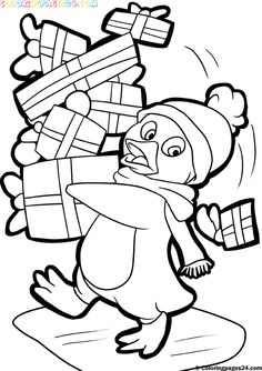 free printables santa and christmas themed coloring pages