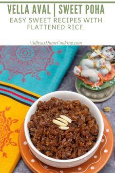 Vella Aval | Sweet Poha for Krishna Jayanthi
