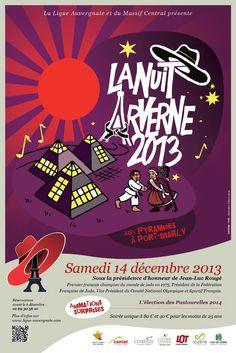 Affiche 2013 de la Nuit Arverne