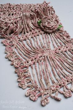 Ravelry: Multi Gaps Scarf pattern by Beata Kaptur...Cool looks like an exploded spider pattern.