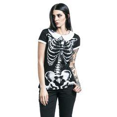 Skeleton Peter Pan Collar Shirt