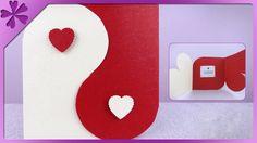 DIY Kartka walentynkowa - serca / Hearts valentines card (+ENG Annotatio...