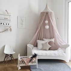 Happy new week! How pretty is this little girl's room by @bllhome  Cam Cam doll bed is available in our mid season sale   .  #kidsroom #kidsroomdecor #kidsinterior #nordichome #nordicinspiration