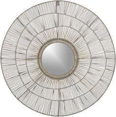 Instead of art, hang two of these over smaller couch?  Cali Mirror    Crate and Barrel