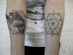 Birds and geometric shapes