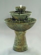 Tall Color Bowl Fountain with Lip is constructed of cast stone concrete and designed to beautify your garden or outdoor living area for years to come. Stone Fountains, Indoor Water Fountains, Garden Fountains, Outdoor Fountains, Water Walls, Outdoor Settings, Winter Garden, Water Features, Garden Art