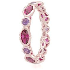 Eternity and Anniversary Band in Rose Gold, Oval Rhodolite Garnets and Round Amethyst Custom Jewelry Designs Bashert Jewelry Boca Raton Florida Eternity Ring Diamond, Eternity Bands, Diamond Heart, Real Diamond Necklace, Gold Earrings Designs, Custom Jewelry Design, Monogram Necklace, Schmuck Design, Personalized Jewelry