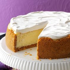 Family-Favorite Cheesecake Recipe -This fluffy, delicate cheesecake has been a family favorite for almost 20 years. I've shared the recipe at many gatherings over the years and have even started baking it for our friends instead of Christmas cookies. —Esther Wappner, Mansfield, Ohio