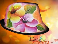 SOMBREROS (PAVA) DECORADA CON FLORES DIFUMINADAS - YouTube Painted Hats, Arte Popular, Projects To Try, Tropical, Clip Art, Flowers, Painting, Decoupage, Diy