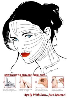 How to give yourself a Holistic and Natural Anti-Aging Facial Massage: Directions By Bellabaci. Buy your set of Bellabaci facial or body cups at www.bellabaci.com for $49.95