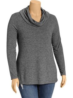 Women's Plus Cowl-Neck Sweaters Product Image