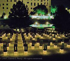 From my friend Dave Perry, the Oklahoma City Bombing Memorial. Norman Oklahoma, Oklahoma Usa, Travel Oklahoma, Oklahoma City Bombing Memorial, Country Music Concerts, San Francisco Earthquake, Public Art, American History