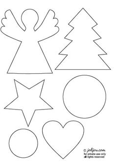 christmas crafting - tutorial & templates - Pendants, little angels, little trees and much more made of paper, wrapping paper, masking tape pas - Felt Christmas Ornaments, Christmas Paper, Kids Christmas, Christmas Crafts, Christmas Decorations, Christmas Wrapping, Christmas 2016, Felt Crafts, Diy And Crafts