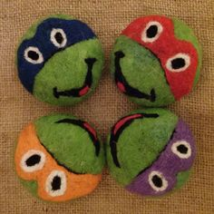 Ninja turtles felt soap