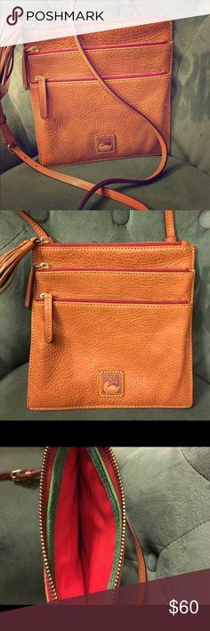 "Brand New- Dooney & Burke Cross body Bag Genuine tarnish leather 8.5 ""H x 8.5 ""W x 1/4 "" D Adjustable cross body straps with 24"" drop Golden tone hardware  Lined inside pockets Dooney & Bourke Bags Crossbody Bags"