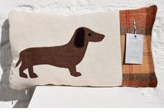 Handmade Dachsund cushion