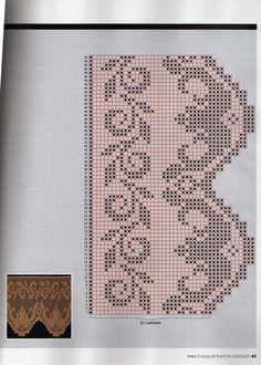 Crochet and arts: Crochet edges Crochet Lace Edging, Crochet Borders, Crochet Shawl, Crochet Doilies, Crochet Stitches, Tatting Patterns, Crochet Patterns, Diy Crafts Crochet, Funny Cross Stitch Patterns