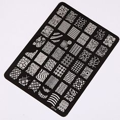 Yistu DIY Nail Stamping , Nail Art Printing Plate Image Stamps Plate Nail Art Decor Manicure