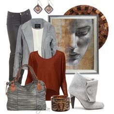 Gray and Bronze, created by sheryl-lee on Polyvore