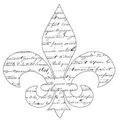 Script Fleur de Lis Transfer  //  The Graphics Fairy